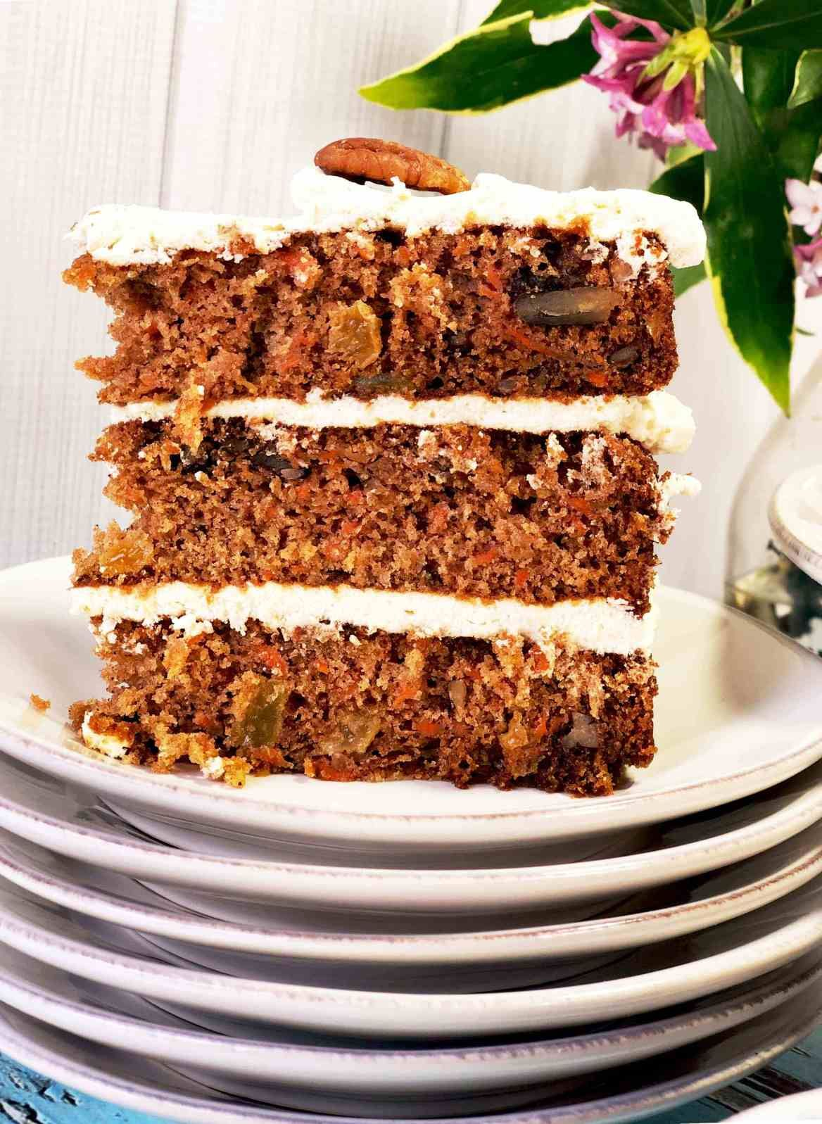 Carrot cake with cream cheese frosting hummingbird thyme