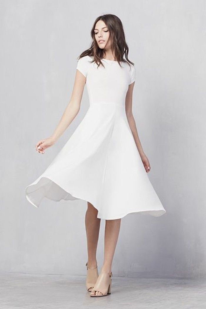 105 verblüffende Ideen für weißes Kleid! #weißekleiderkurz ...