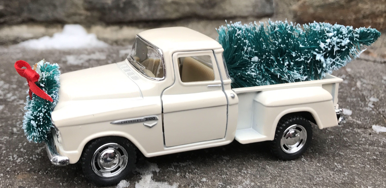 Vintage White Pickup Truck White Truck Christmas Tree Farmhouse