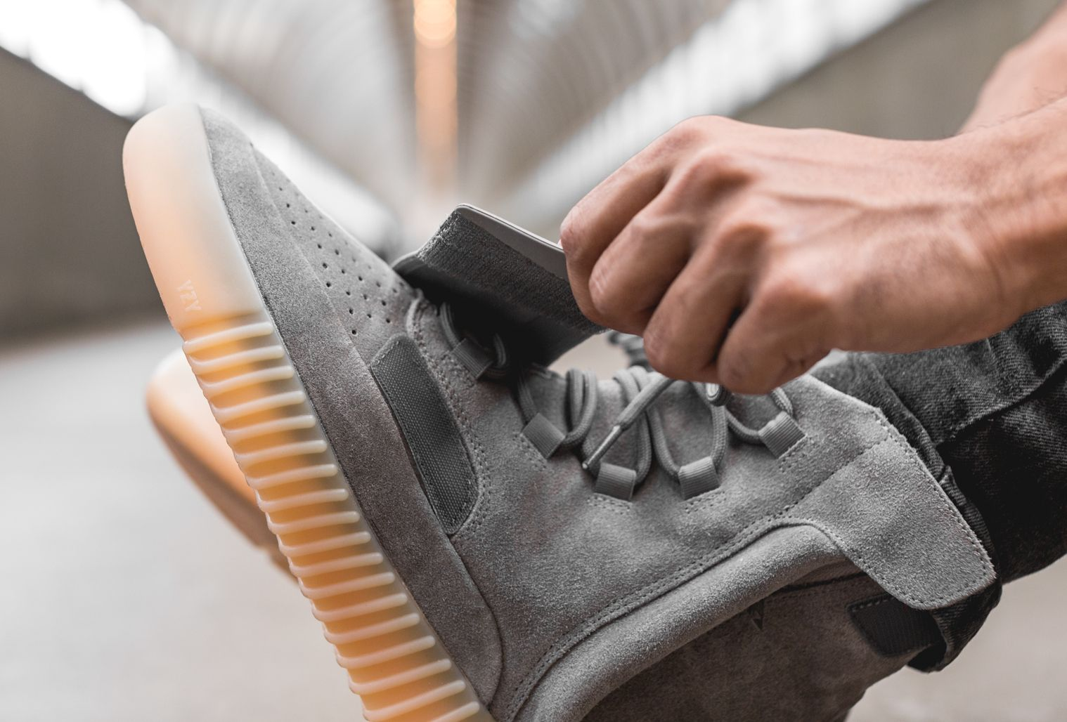 Kanye West x Adidas Yeezy 750 Boost 'GreyGum' (glow in the