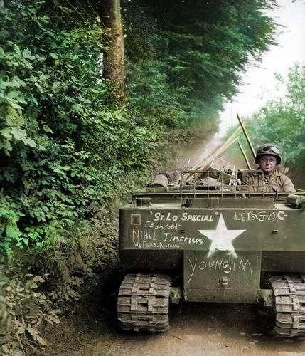 M-29 Weasel of 'C'Coy, 121st Combat Engineer Battalion, 29th US Infantry Division.