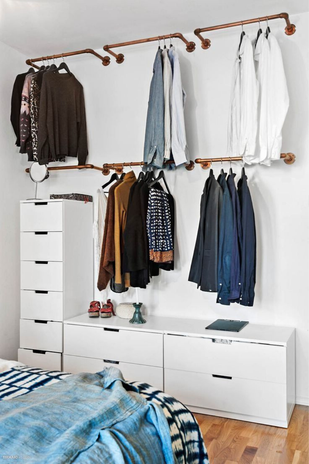 Clothing Storage Ideas For Small Bedrooms In 2020 Small Bedroom Storage Wall Mounted Clothing Rack Clothing Rack Bedroom