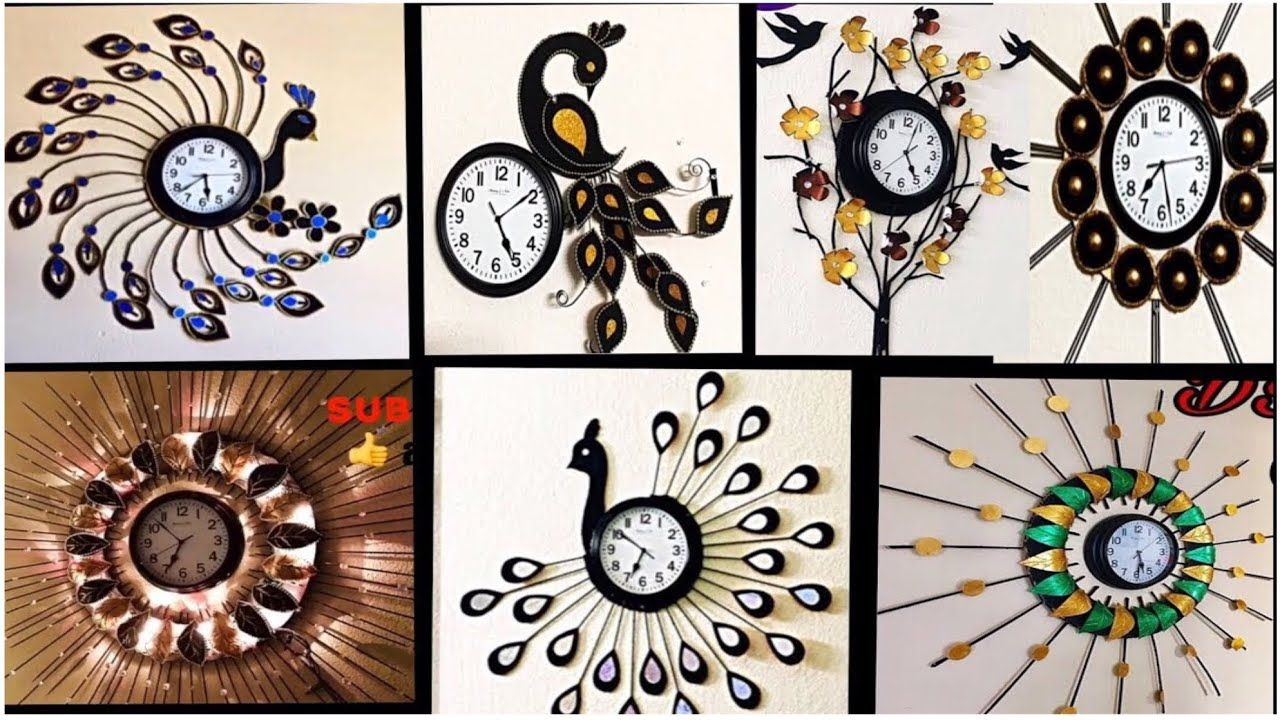 7 Wall Clock Waste Material Craft Ideas Watch Decoration Ideas Fashion Pixies Youtube Family Wall Decor Hanging Wall Decor Iron Wall Decor