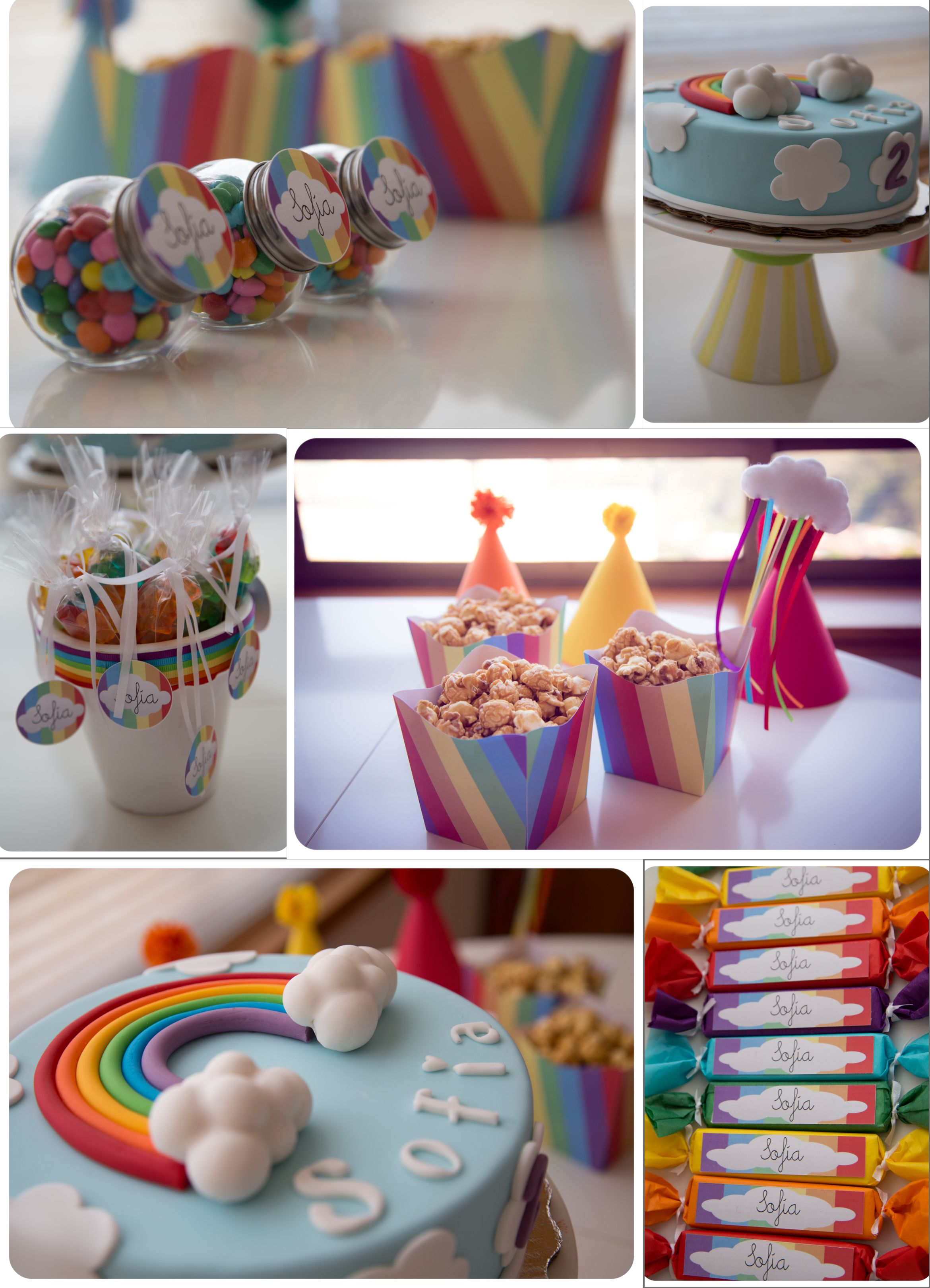 theme party Sofia 2 years old Mexico rainbow cake birthday party ...