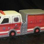 A Firetruck Theme Cake.