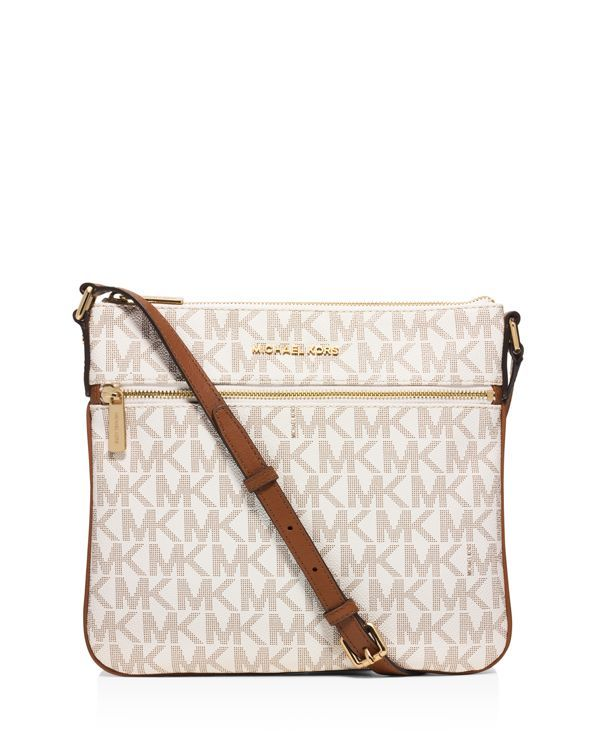 michael michael kors bedford flat logo crossbody products rh pinterest com