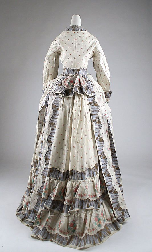 Morning dressate: 1870s Culture: American Medium: cotton