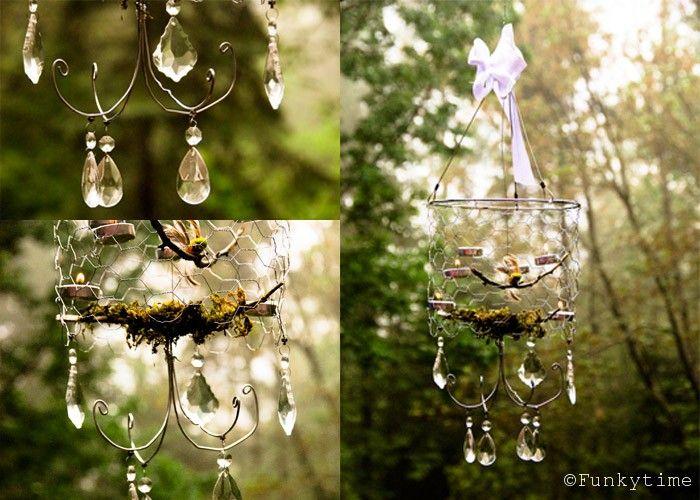 Kronleuchter Für Den Garten ~ Beautiful diy chicken wire chandelier pinterest selber machen