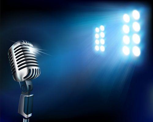Microphone On Stage Microphone Karaoke Blue Microphones