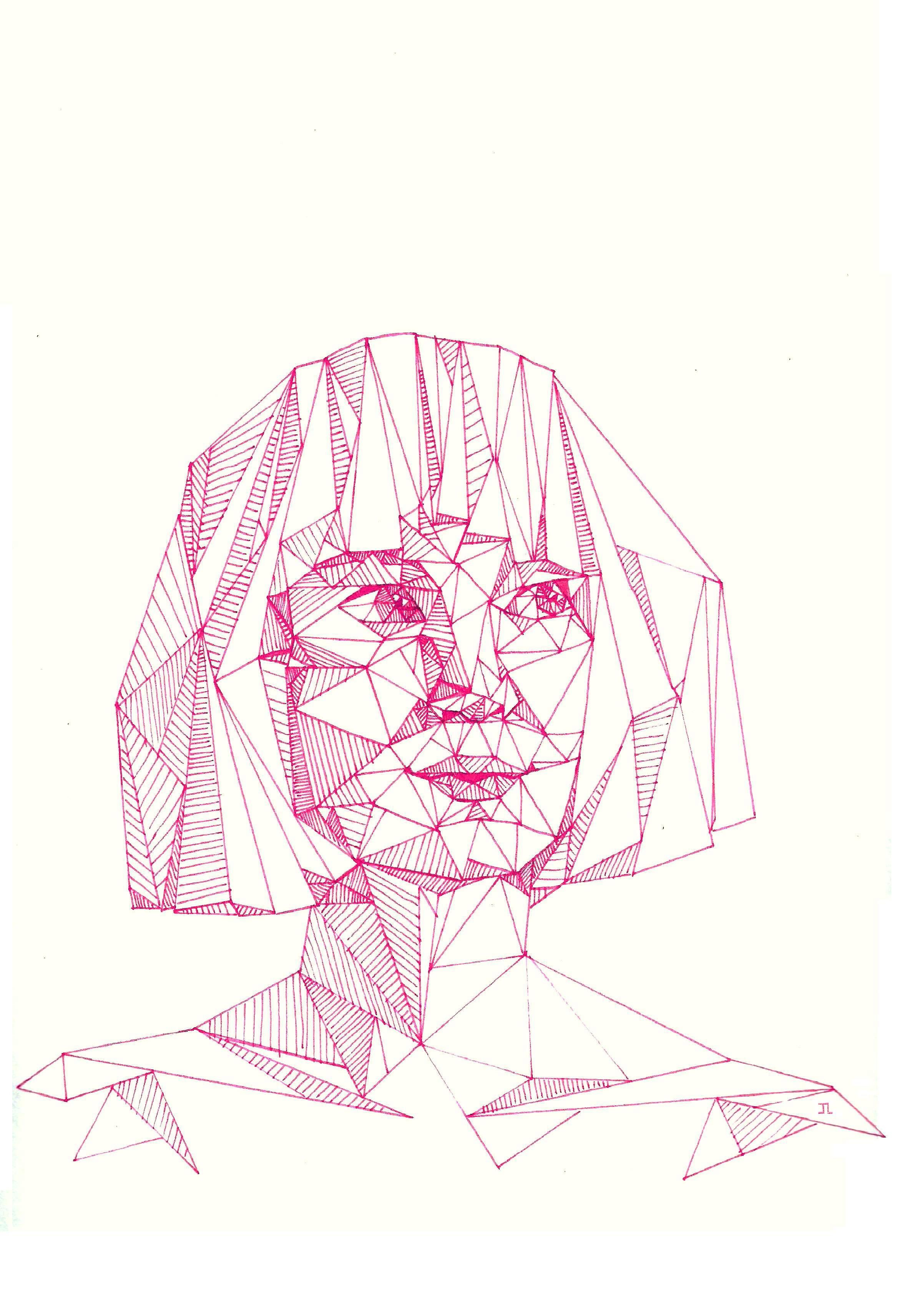 Geometric sia singer of titanium and song writer for beyonce singer of titanium and song writer for beyonce rihanna and so many more musical artists has inspired this illustration with her new single chandelier arubaitofo Image collections