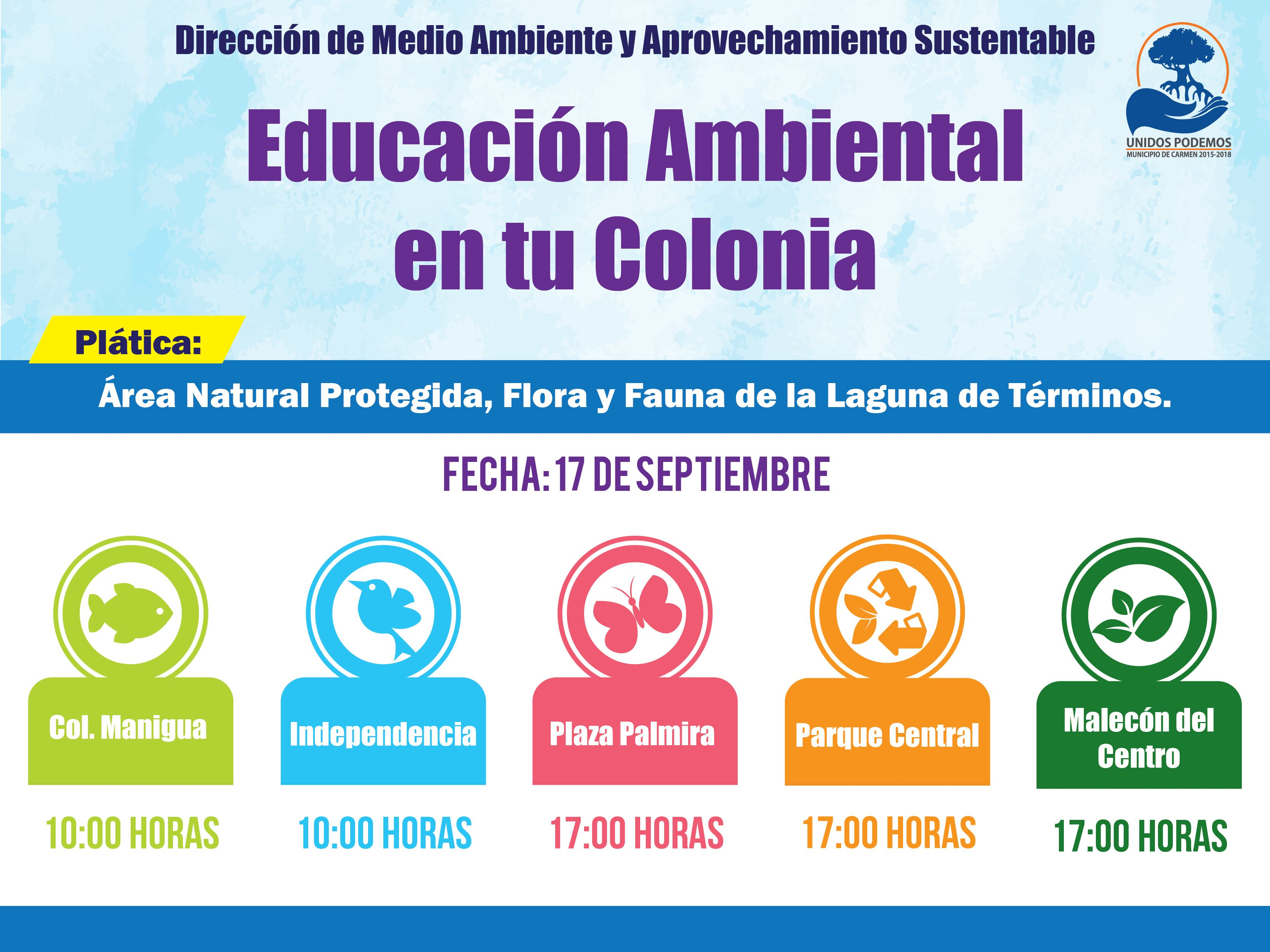 Plática de Educación Ambiental!! Área Natural Protegida, Flora y Fauna de la Laguna de Términos.