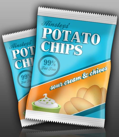 Download Create A Packet Of Potato Chips In Photoshop Chip Packaging Potato Chips Packaging Snack