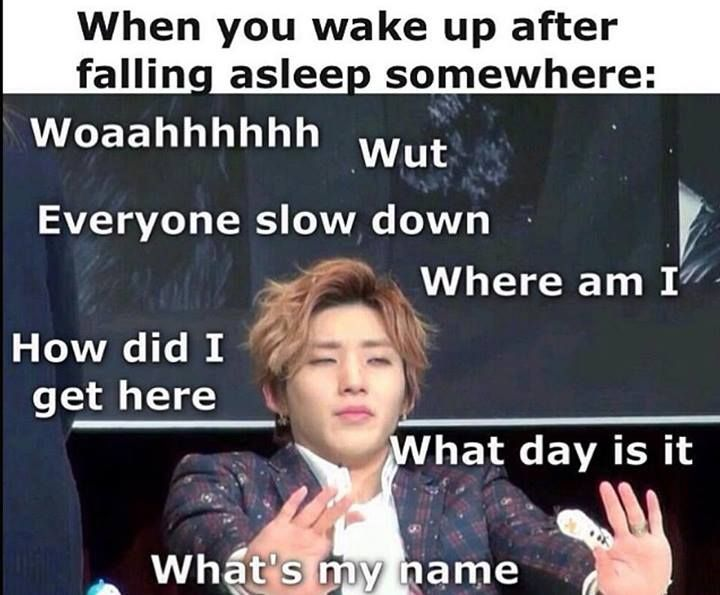 Jongup B A P Waking Up Sleep Confusion Kpop Memes Funny Kpop Memes Kpop Funny
