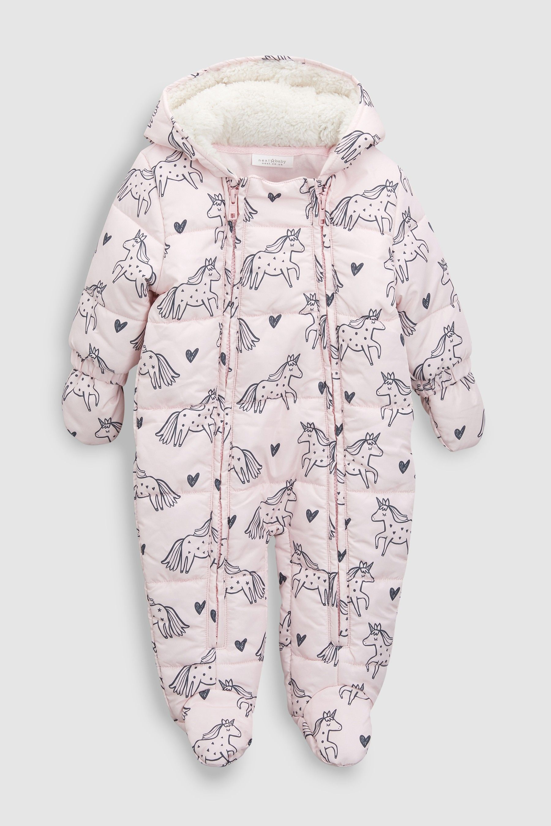 6e6ad0902088 Girls Next Pink Unicorn All-In-One (0mths-2yrs) - Pink