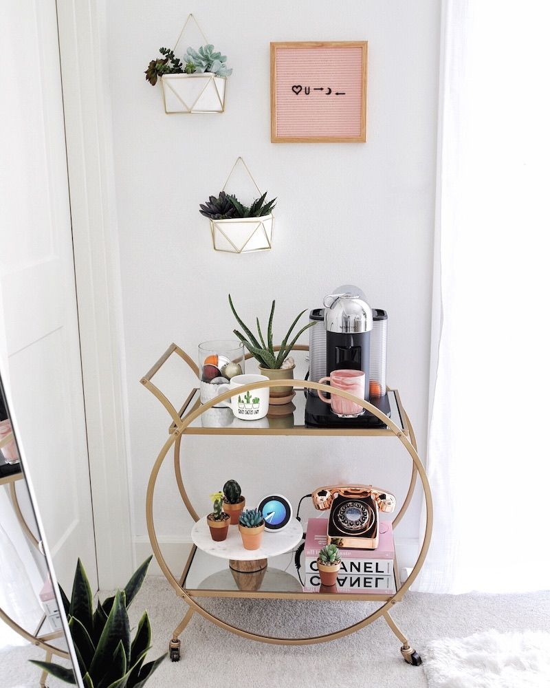 5 ideas for cool coffee bar carts for your home, whatever your style #coffeebarideas