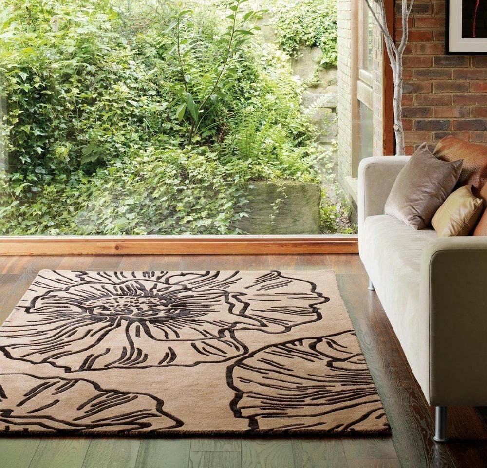 Teppich Wohnzimmer Carpet Modern Design MATRIX LIBERTY BLUMEN RUG Wolle Gunstig