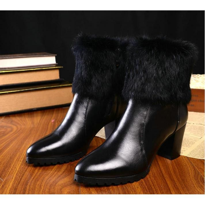 Chanel 2015 new style leather Boots CB031