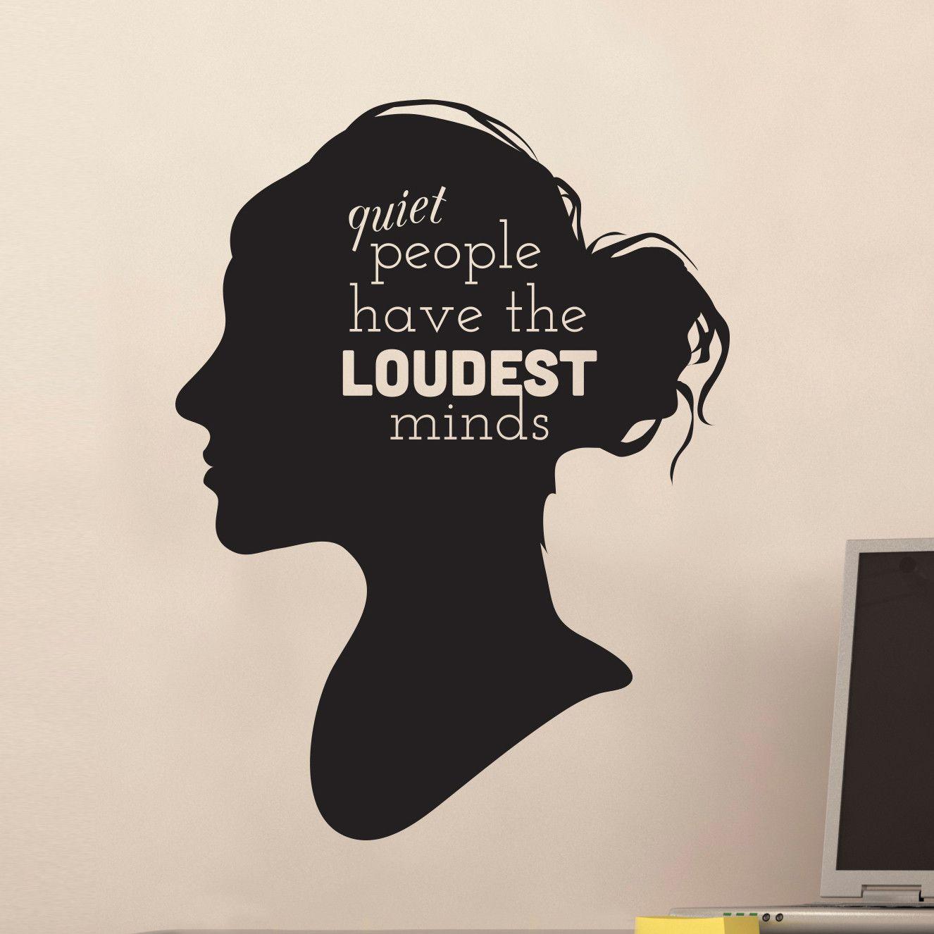 Quiet People Loud Minds Quote Decal   Shop Decals at Dana Decals