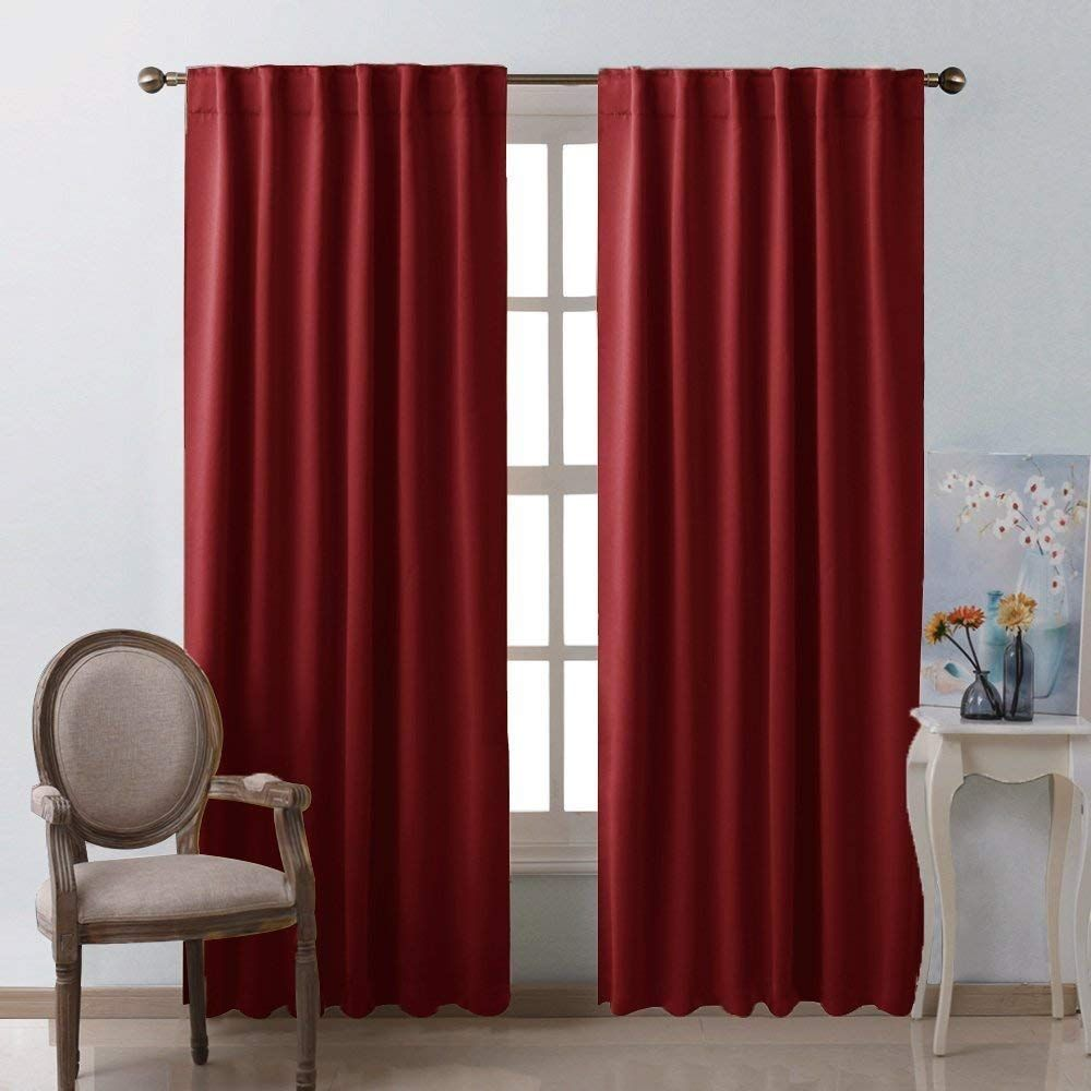 Burgundy Blackout Window Draperies Curtains Red Velvet Curtains Curtains Red Curtains