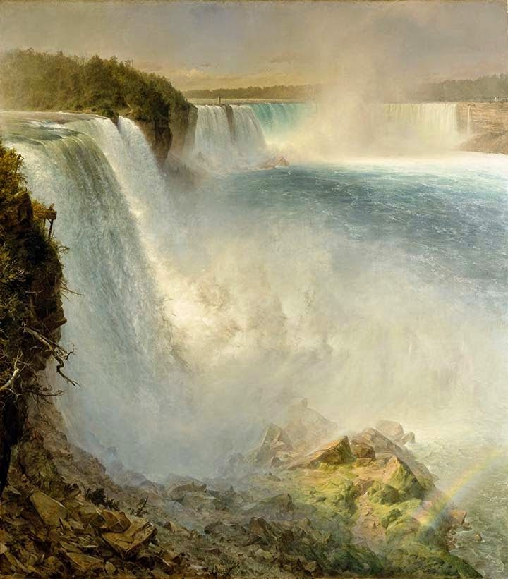 Frederic Edwin Church, Niagara Falls, from the American Side, 1867. Oil on canvas, 257 x 227cm (285 x 256cm framed). Scottish National Gallery