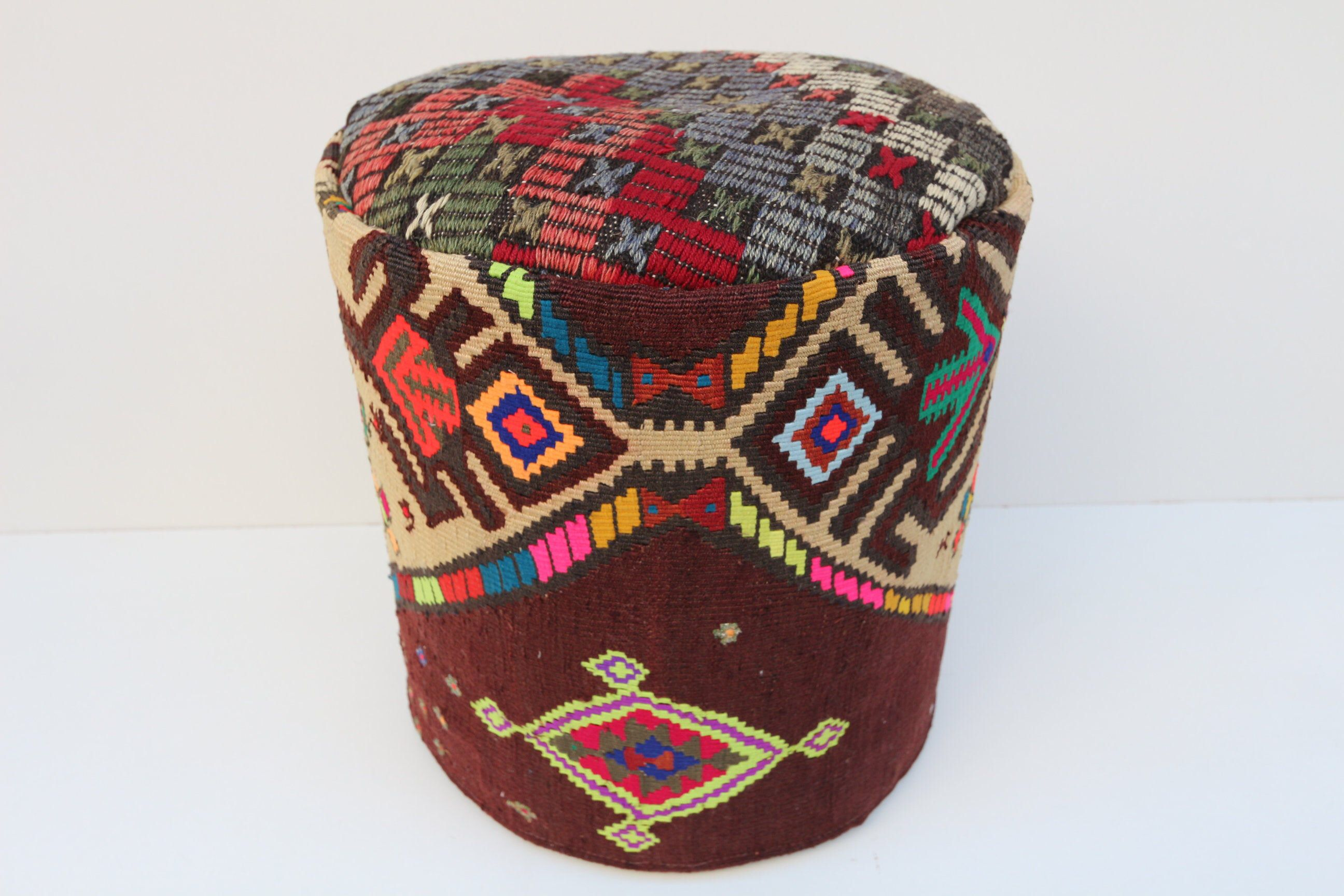 Kilim Pouf Pouf Floor Seating Floor Seating Pillow Pouf For