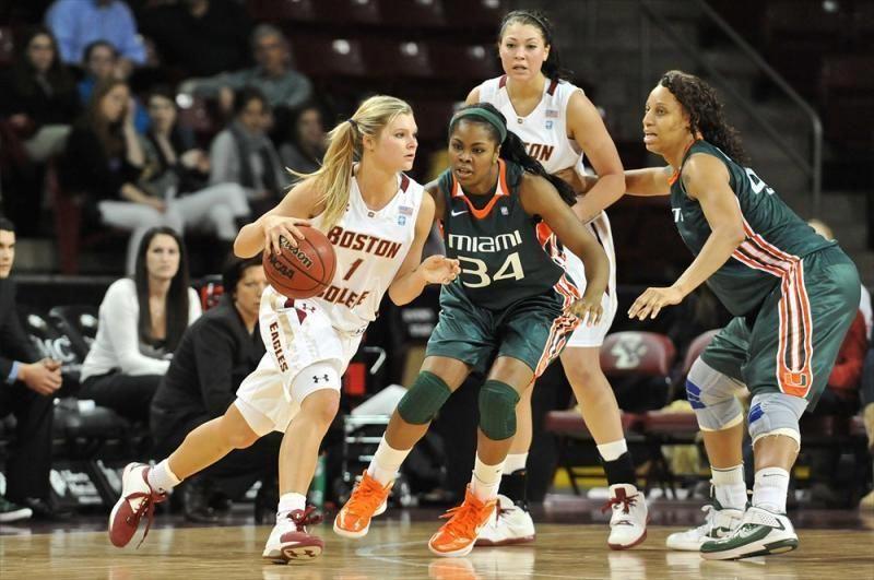 Miami at Boston College Women's Basketball