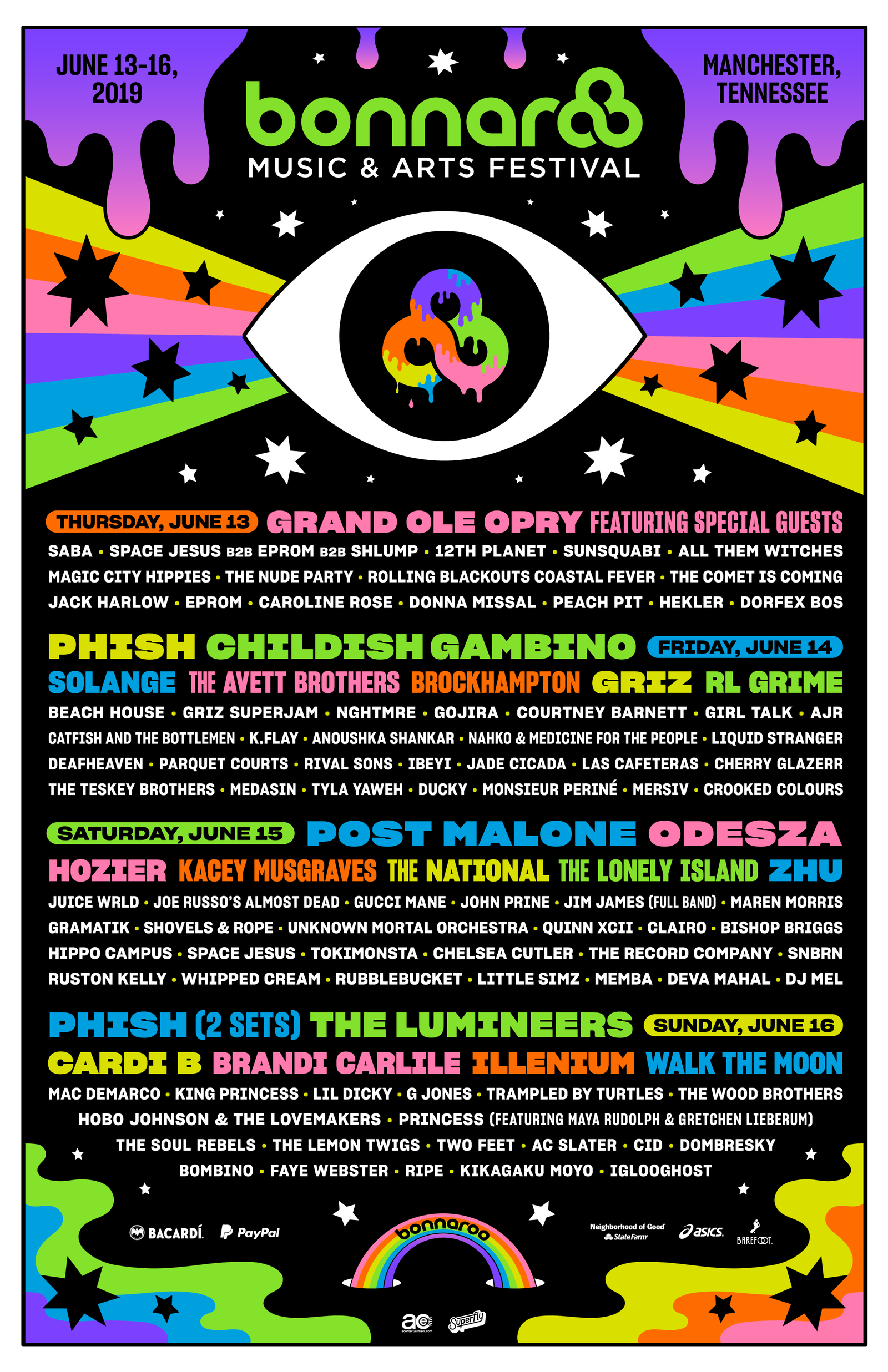 8ac287dfb88372 The 2019 Bonnaroo Lineup Is Its Weirdest in Years | project 1 ring ...