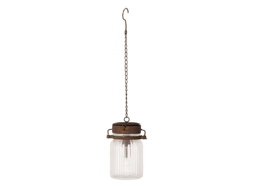 Suspension LED en verre transparent forme bocal diamètre 105cm Gabe - couleur des fils electrique