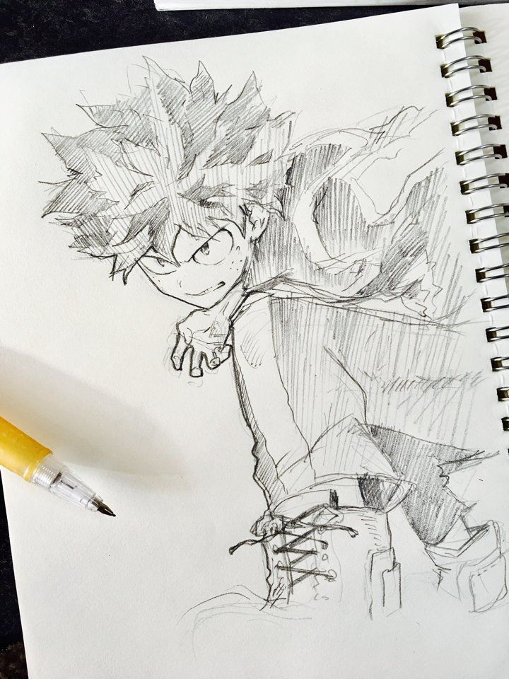 Micco On My Hero Academia Manga Hero Sketches