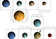 لعبة الشبكة Grid الكوكب الظاهر على وجه المكعب العاب الفضاء للاطفال