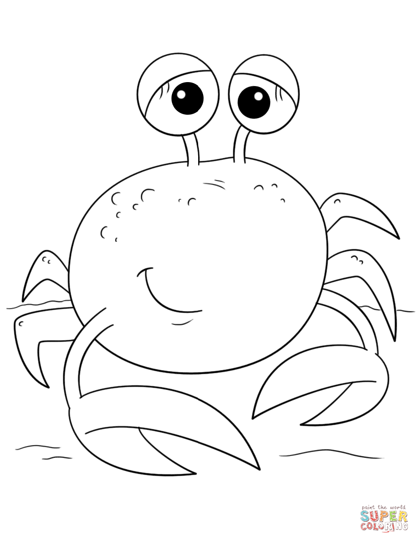 Cute Cartoon Crab Super Coloring Bird Coloring Pages Coloring Pages Coloring Books