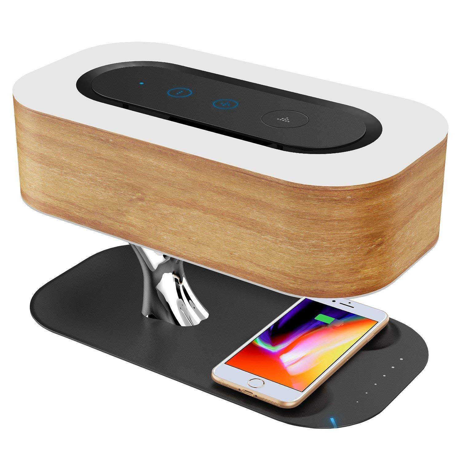 Bedside Lamp With Bluetooth Speaker Wireless Charger Bedside Lamp Wireless Charger Speaker