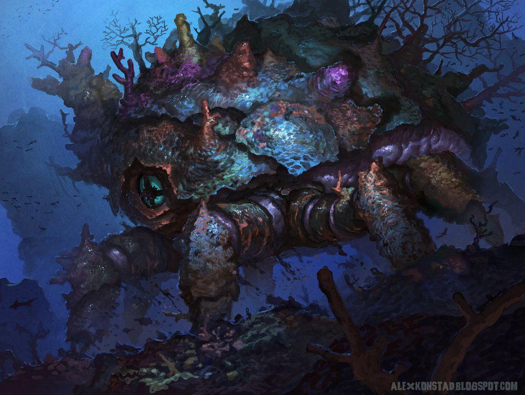 Coral Strider by AlexKonstad on deviantART | Alien concept art, Art,  Concept art world
