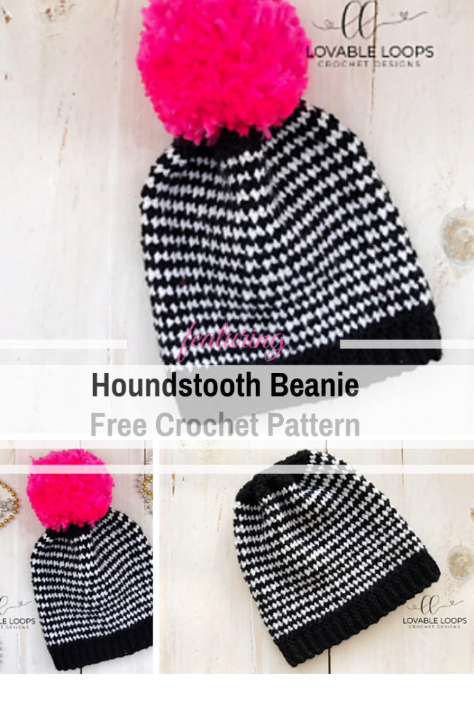 Quick And Easy Houndstooth Beanie Free Crochet Pattern ...