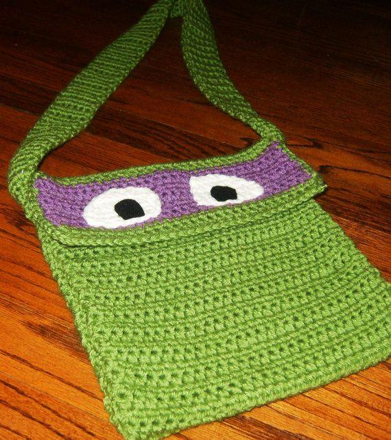 Crocheted Teenage Mutant Ninja Turtle Crossover Purse by lpatch13 ...