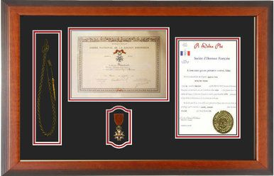 17 X 27 Double Certificate W Medal Opening Additional Window Is Used For A Shoulder Cord Or An Ortment Of Challenge Coins 225 00