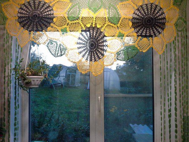 Mis Pasatiempos Amo el Crochet: Tejer mantel y cortina de Los ...