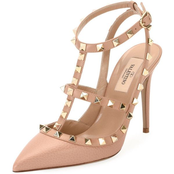 e15c7a1f455b Valentino Rockstud Leather Caged Pump ( 1