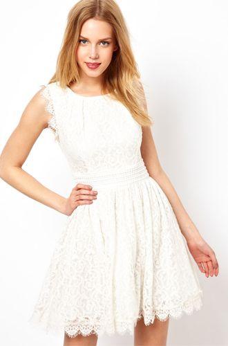 12 Budget Friendly Alternative Wedding Dresses Darling Lace Skater Dress From ASOS
