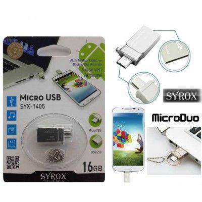 Microduo 16gb Micro Usb Flash Bellek Arabirim Syrox Teknoloji