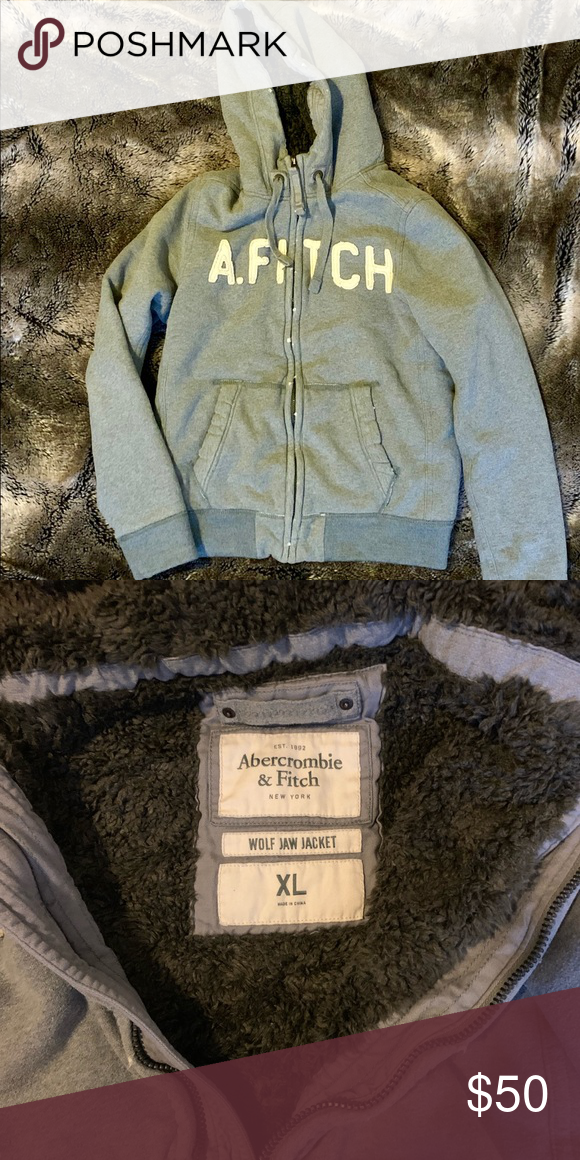 0870abff2 Like New Abercrombie and Fitch Wolf Jaw Jacket Like New Abercrombie ...