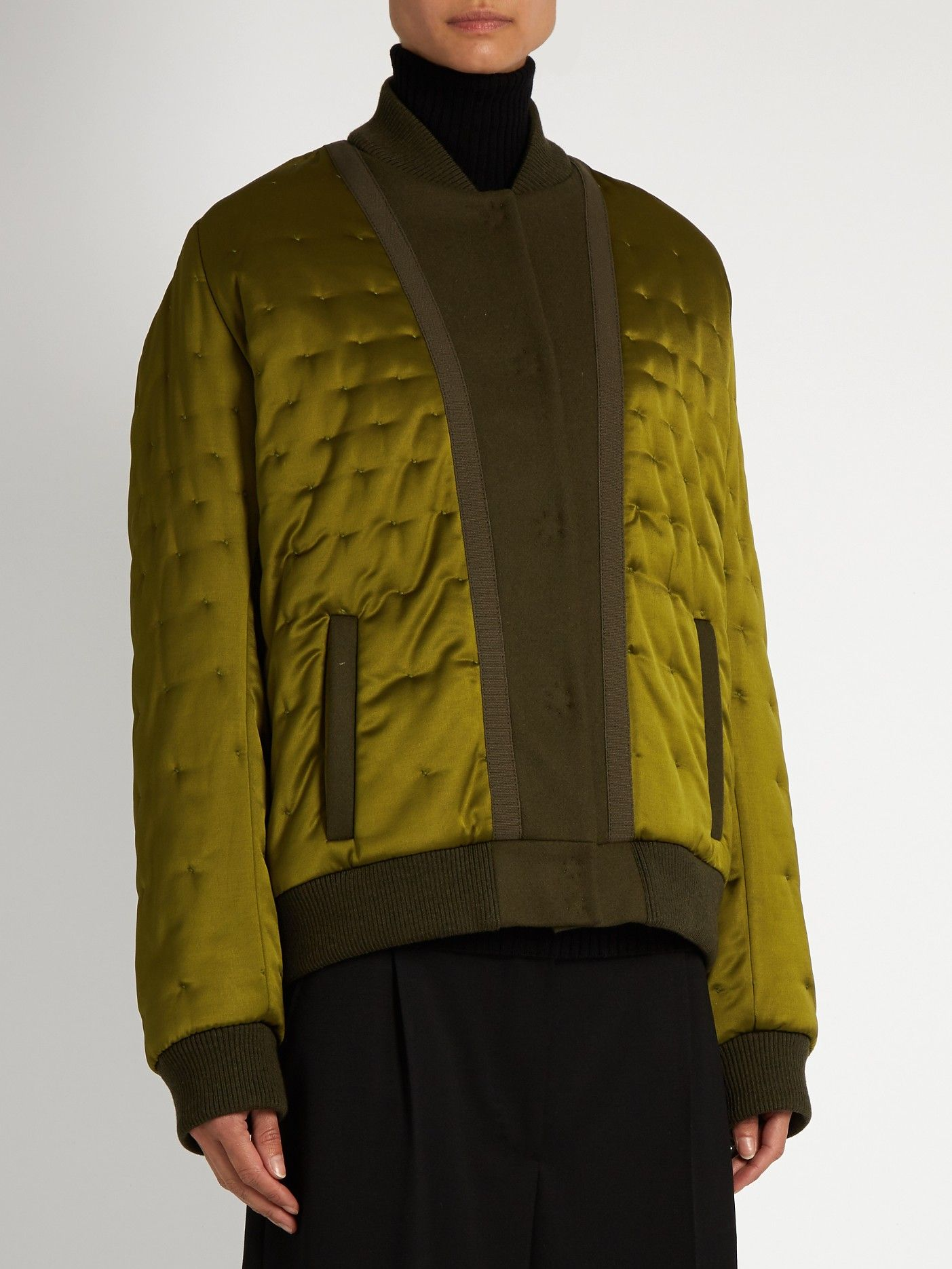 Quilted satin bomber jacket | Maison Margiela | MATCHESFASHION.COM