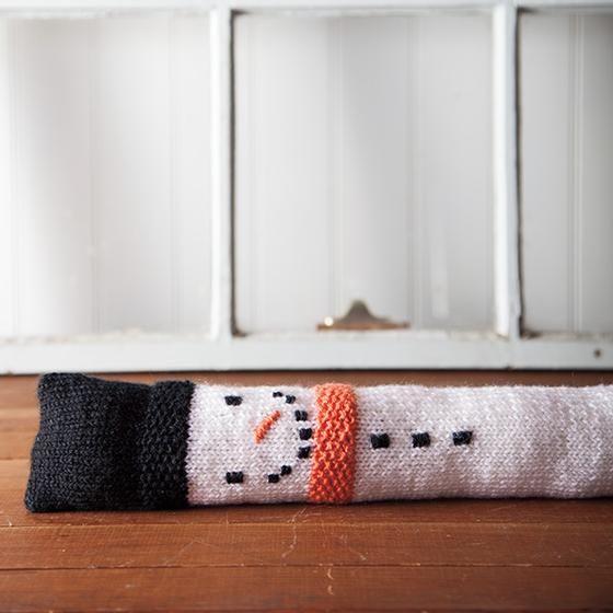 Snowman Draft Stopper - Free Pattern - Knitting Patterns and Crochet ...