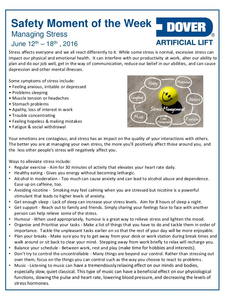 Managing Stress! Alberta Oil Tool's Safety Moment of the