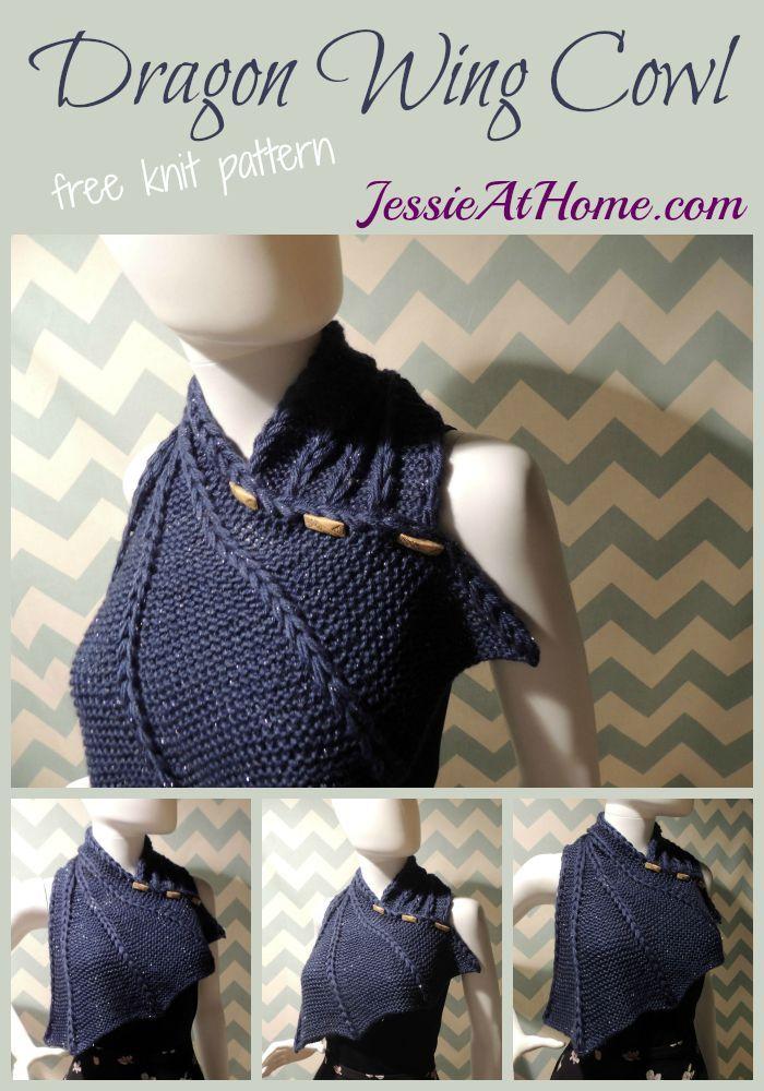 Knit Dragon Wing Cowl | knit | Pinterest | Stricken, Häkeln und ...