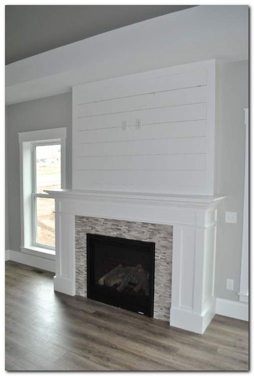 Diy Laminate Flooring On Walls And 30 Inspirations The Urban Interior Farm House Living Room Fireplace Remodel Farmhouse Fireplace
