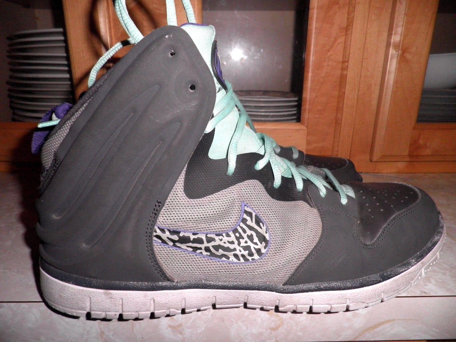 2013 Nike Dunk Free Dark Charcoal Black-Gamma Blue-White 599466-005 Size  11.5  e98b9aff79