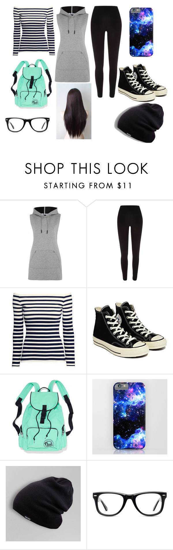 """""""School Day"""" by huebleki ❤ liked on Polyvore featuring T By Alexander Wang, River Island, H&M, Converse and Muse"""