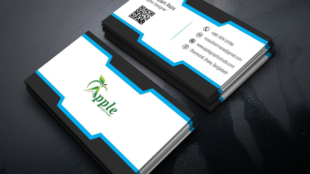 How to Create a Nice Business Card in Photoshop | Business Card ...