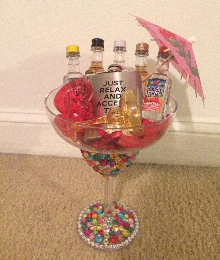 21st Birthday Gift Idea Oversized Margarita Glass